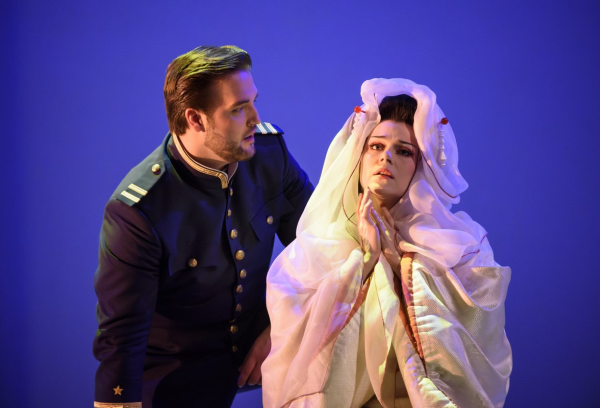 Brian Jagde as Lieutenant Pinkerton and Kristine Opolais as Cio-Cio-San in Madama Butterfly (Royal Opera House)
