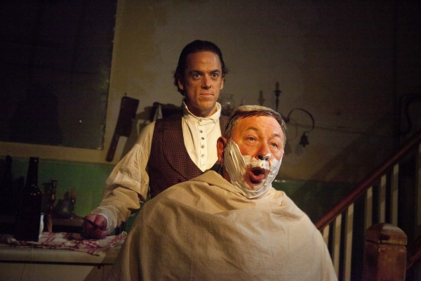 Jeremy Secomb (Sweeney Todd) and Duncan Smith (Judge Turpin)