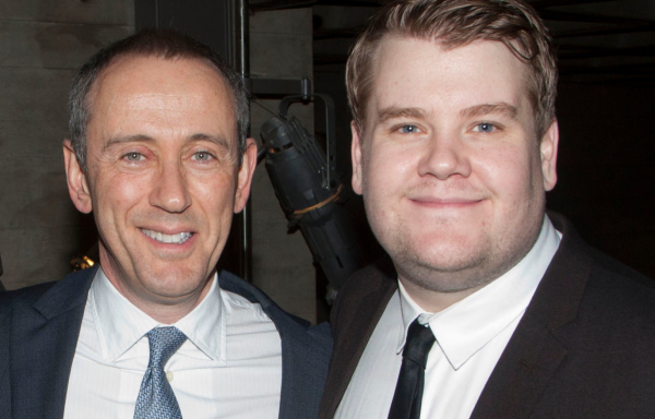 Proud mentor: Nicholas Hytner and James Corden in 2011