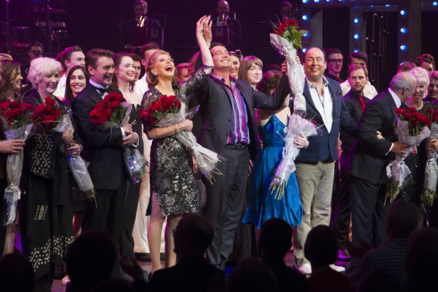 Craig Revel Horwood and the Follies company on stage at the Albert Hall