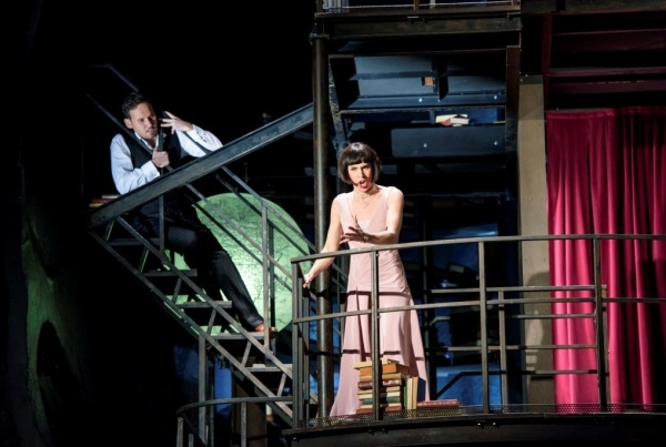 Mariusz Kwiecień as Roger and Georgia Jarman as Roxana in Król Roger (ROH)