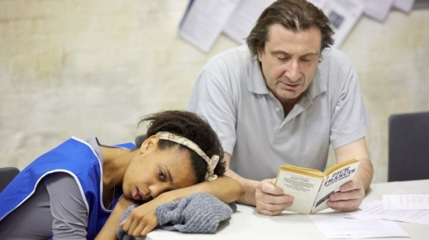 Sean O'Callaghan (Phil) and Janet Etuk (Grace)