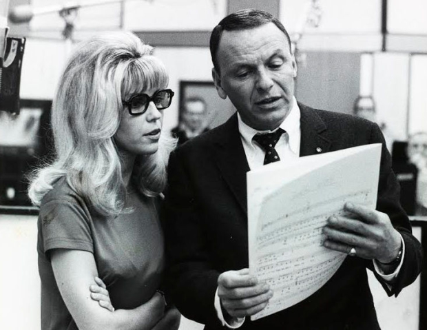 Nancy Sinatra with her father