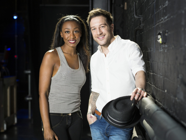 Beverley Knight and Matt Cardle on the set of Memphis the Musical