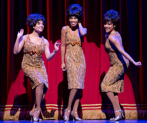 Sydney Morton, Valisia LeKae and Ariana DeBose in Motown on Broadway