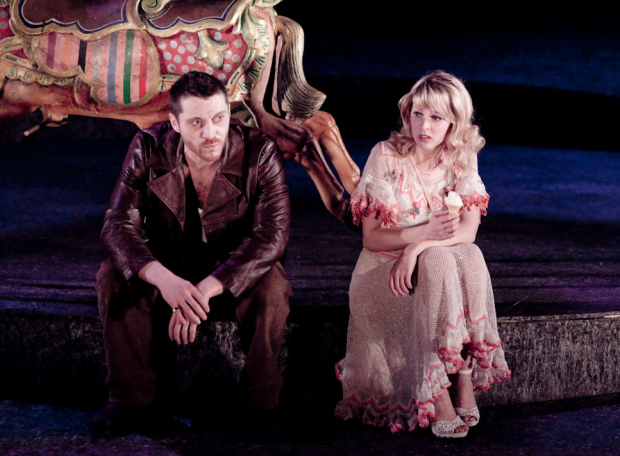 Katie Moore (Caroline) and Ben Batt (Cash) in The Funfair