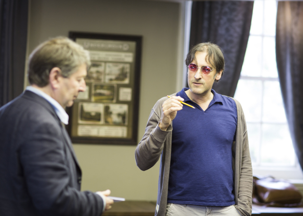 Alistair McGowan in rehearsals for An Audience with Jimmy Savile