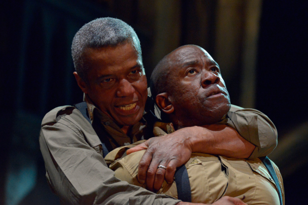 Hugh Quarshie as Othello and Lucian Msamati as Iago