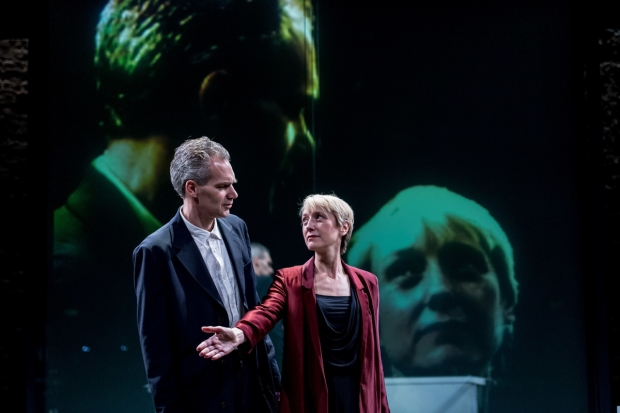 Angus Wright and Lia Williams in Robert Icke's Oresteia at the Almeida