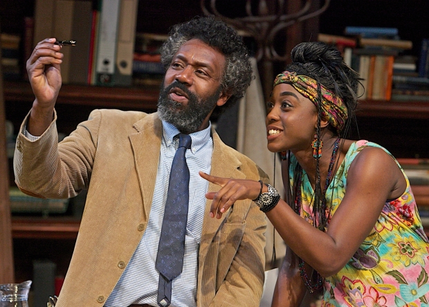 Lenny Henry (Frank) and Lashana Lynch (Rita) in Educating Rita