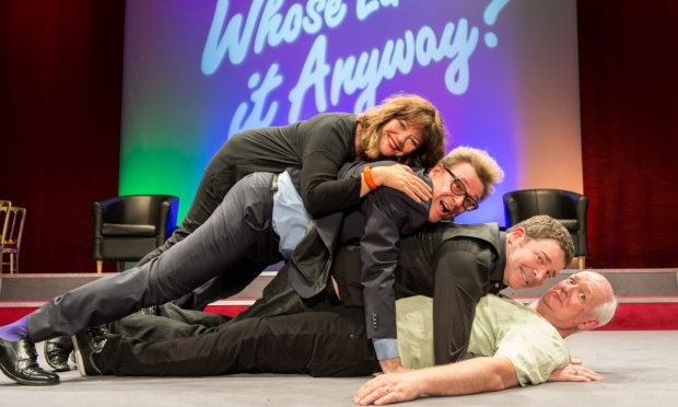 Greg Proops, Josie Lawrence, Brad Sherwood and Colin Mochrie in Whose Line is it Anyway? Live