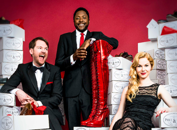 Killian Donnelly, Matt Henry and Amy Lennox star in Kinky Boots