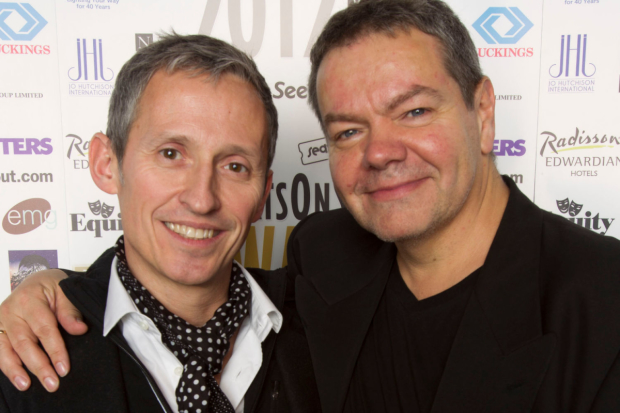 George Stiles and Anthony Drewe at the 2012 WhatsOnStage Awards