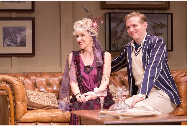 Anita Dobson (Mrs Hardcastle) and Jack Holden (Hastings) in She Stoops to Conquer