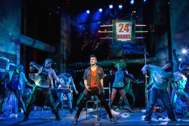 Aaron Sidwell and the cast of American Idiot