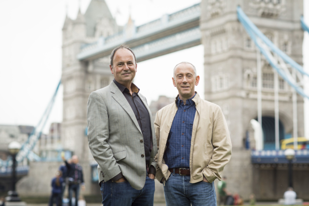 Nick Starr and Nicholas Hytner at Tower Bridge