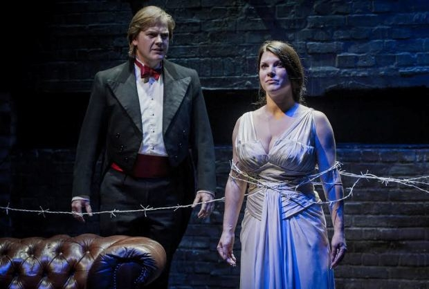 James Gower as Peneios and Justine Viani as Daphne in Daphne (Opera At Home/Grimeborn)