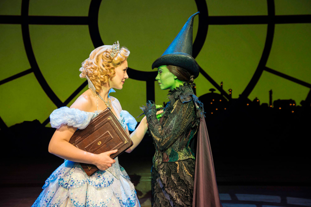 Savannah Stevenson (Glinda) and Emma Hatton (Elphaba) in Wicked, one of the participating shows