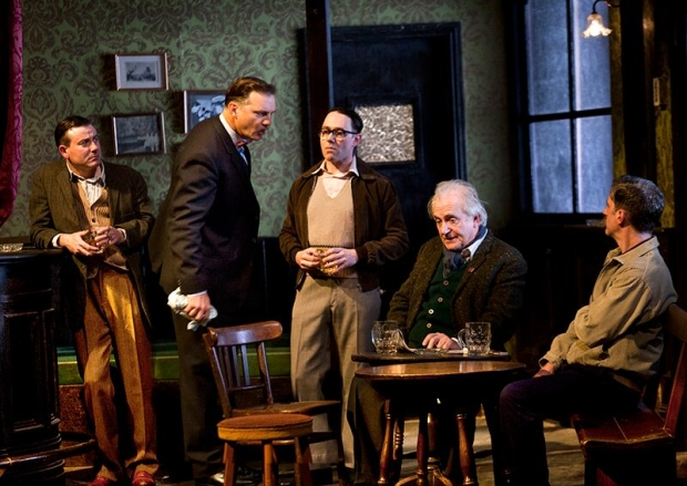 Hanging out: Graeme Hawley (Bill), David Morrissey (Harry), Reece Shearsmith (Syd), Simon Rouse (Arthur) and Ryan Pope (Charlie) in Hangmen