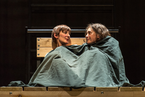 Laura Elphinstone (Helen Burns) and Madeleine Worrall (Jane) in Jane Eyre at the National