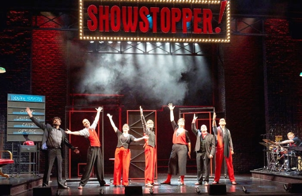 A scene from Showstopper! The Improvised Musical