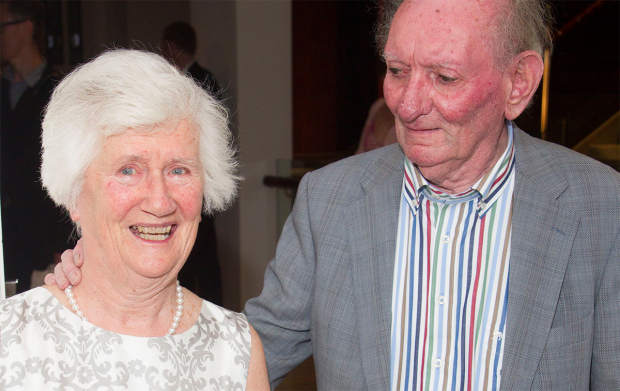 Brian Friel with wife Anne Morrison at the opening of Fathers and Sons at the Donmar last year
