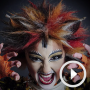 Stunning Cats make-up timelapse video featuring Zizi Strallen