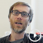 Stephen Merchant and Steffan Rhodri in rehearsals for The Mentalists