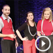 The Showstoppers improvise a musical number for WhatsOnStage readers