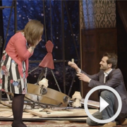 Romantic guy proposes on stage at The Play That Goes Wrong