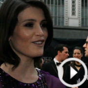 On the red carpet at the Olivier Awards