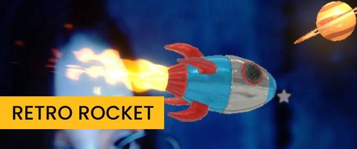 Animated Retro Rocket Around Face Instagram Filter