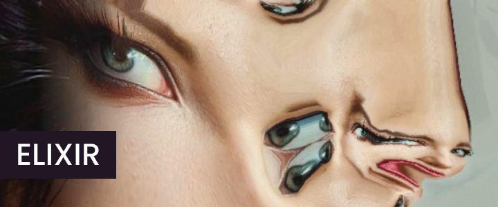 Surreal Selfie Reflections Face Mask Instagram Filter