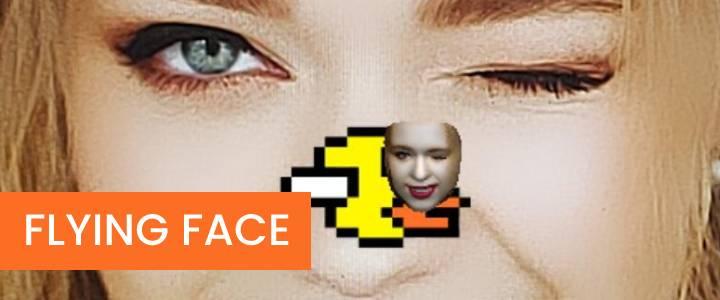 Dvoshansky Flying Face Blinking Game Instagram Filter
