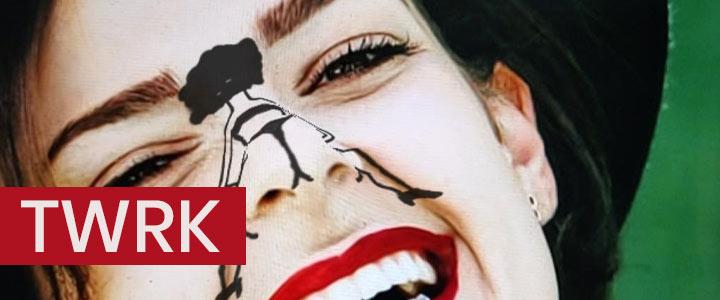 TWRK - Nose Drawing Booty Dance Instagram Filter