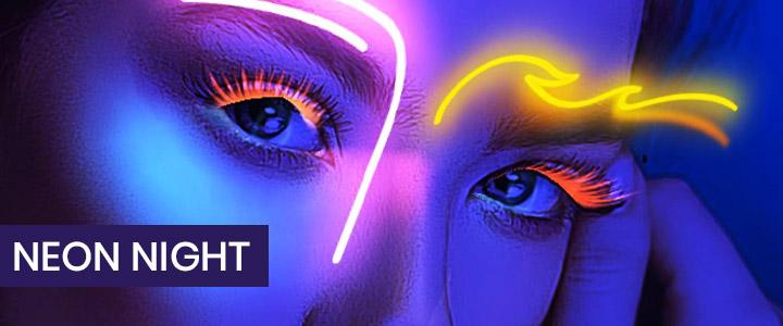 Neon Night - Glowing 3D Makeup Instagram Filter