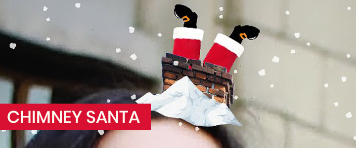 Chimney Santa Claus Gift Delivery Instagram Filter