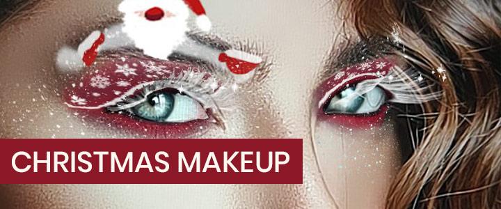 Christmas makeup Instagram filter