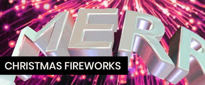 Christmas fireworks show Instagram effect
