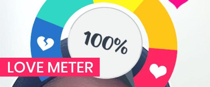 Love Meter AR game for Instagram