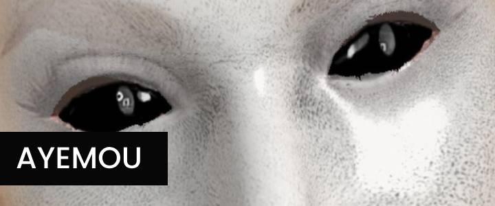 Creepy Dark Eyes Marble Face Instagram Filter
