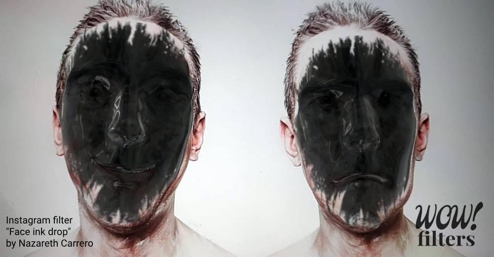 Ink face fill effect in augmented reality