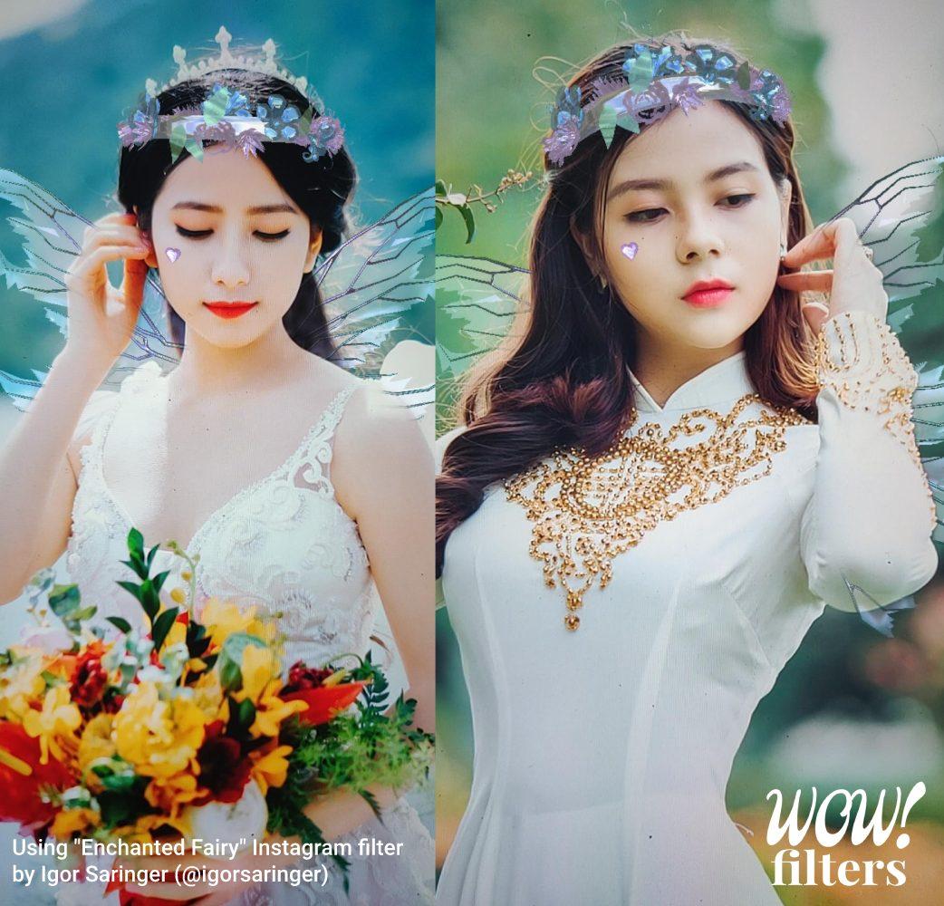 Enchanted fairy costume Instagram AR filter
