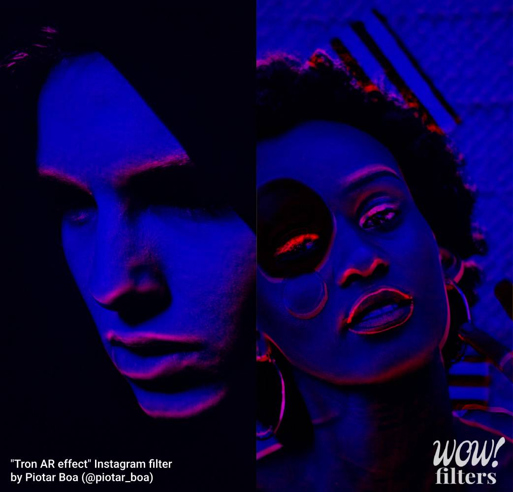 Tron AR effect for self portraits