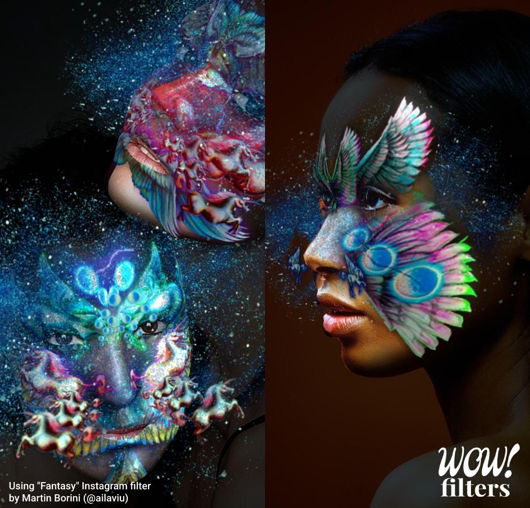 Colorful Instagram 3d makeup masks