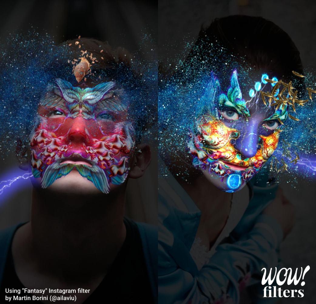 colorful art Instagram AR face mask