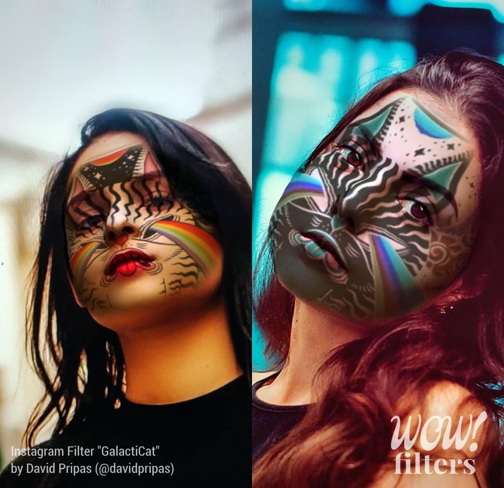 GalactiCat Instagram 3D makeup