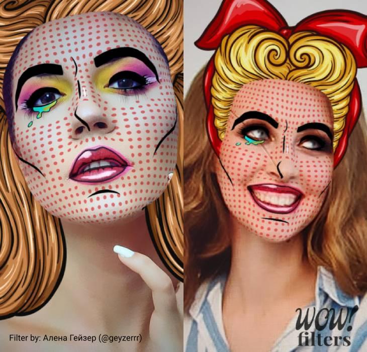 Woman Pop Art AR Mask Instagram Filter