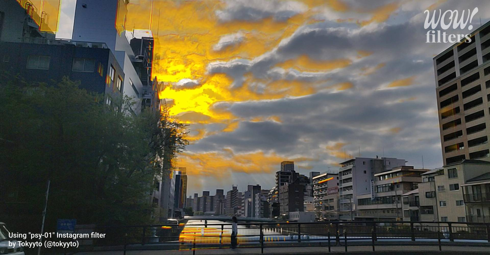 psy-01 Instagram camera effect with yellow colored sky