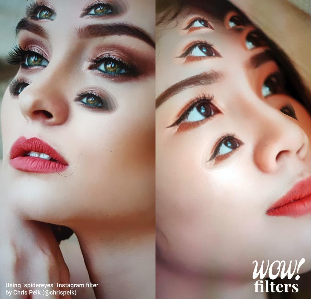 Spider eyes Instagram filter